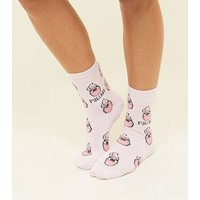 Pink Pugcake Sock New Look