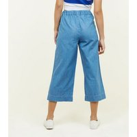 Blue Lightweight Denim Culottes New Look