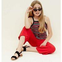 Teens Black Stripe NYC Ringer Cami New Look
