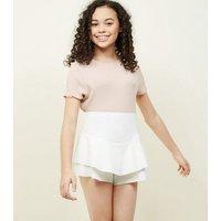 Girls White Frill Skort New Look