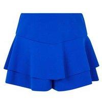 Girls Blue Frill Skort New Look