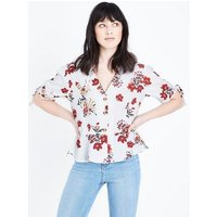 Cameo Rose Off White Floral Print Blouse New Look