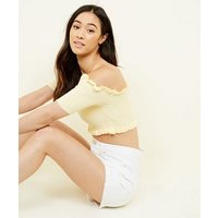 pale-yellow-bardot-crop-top-new-look