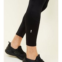 Black Sports Stretch Running Tights New Look