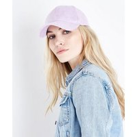 Lilac Suedette Cap New Look