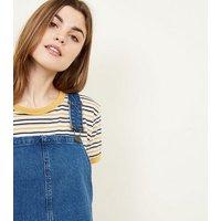 Tall Blue Mid Wash Denim Pinafore Dress New Look