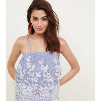 blue-stripe-embroidered-cut-out-cami-new-look