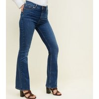 Blue Boot Cut 'Lift & Shape' Jeans New Look
