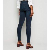 Tall Blue Rinse Wash High Waist Super Skinny Jeans New Look