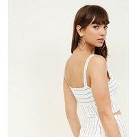 white-linenlook-stripe-tie-front-bralette-new-look