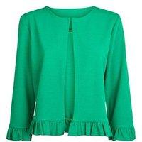 Cameo Rose Green Frill Hem Jacket New Look