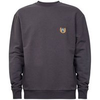 Dark Grey Embroidered Side Badge Sweatshirt New Look