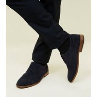Navy Faux Suede Lace-Up Desert Shoes New Look