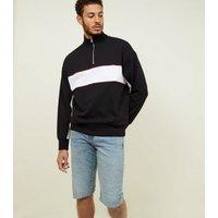 Men's Pale Blue Longline Denim Shorts New Look