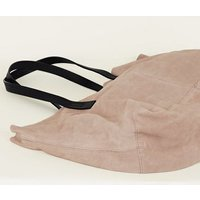 Nude Suede Slouch Tote Bag New Look