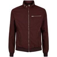 Burgundy Racer Neck Jacket New Look
