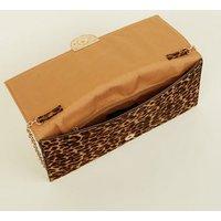 Brown Leopard Print Contrast Clutch Bag New Look
