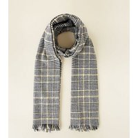 Black Prince of Wales Check Blanket Scarf New Look