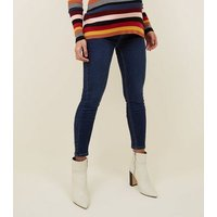 Maternity Bright Blue Over Bump Jeggings New Look