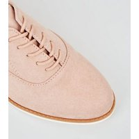 Pink Suedette Lace Up Shoes New Look
