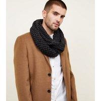 Mens Light Grey Chevron Loop Knit Snood New Look