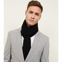 Black Jersey Knit Scarf New Look