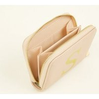 Nude S Initial Zip Around Card Holder New Look