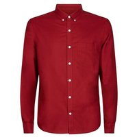 Red Cotton Long Sleeve Oxford Shirt New Look