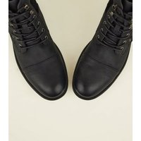 Black-Military-Lace-Up-Boots-New-Look