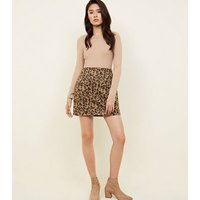 Blue Vanilla Brown Leopard Print Skirt New Look