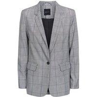 Light Grey Check Single Breasted Blazer New Look