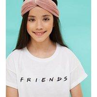 Girls White Friends Logo T-Shirt New Look