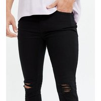 Black Ripped Knee Skinny Jeans New Look