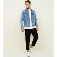 Black Wide Tapered Jeans New Look