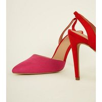 Pink Two Tone Slingback Pointed Courts New Look
