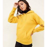 Mustard Oversized Hoodie New Look
