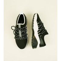 Black Limited Edition Hiker Lace Up Chunky Trainers New Look