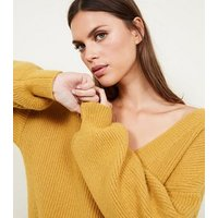 Blue Vanilla Mustard Balloon Sleeve Jumper New Look