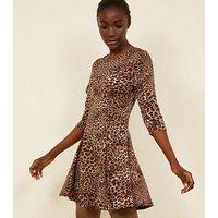 Pink-Vanilla-Brown-Leopard-Print-Dress-New-Look