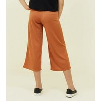 Girls Rust Ribbed Jersey Culottes New Look