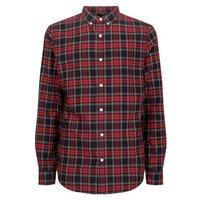 Mens Red Tartan Check Shirt New Look