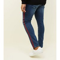 Plus Size Red Tape Side Stripe Skinny Jeans New Look