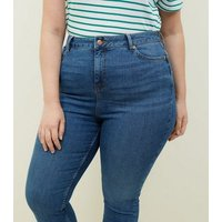 Curves Blue Lift and Shape Skinny Jeans New Look