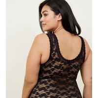 Curves Black Lace Bodysuit New Look