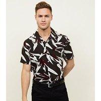Khaki Tropical Floral Print Short Sleeve Shirt New Look