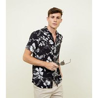 Navy Floral Short Sleeve Shirt New Look