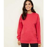 deep-pink-oversized-sweatshirt-new-look