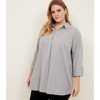 Curves Grey Overhead Shirt New Look