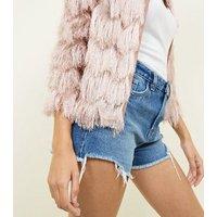 Cameo Rose Pale Pink Tassel Jacket New Look