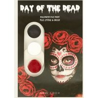 Black White and Red Day of the Dead Face Paints New Look
